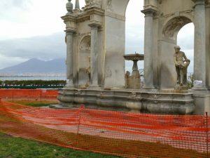 La Fontana del Gigante com'è ridotta ora