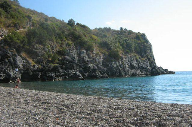 Spiaggia di Marina di Camerota (Salerno).