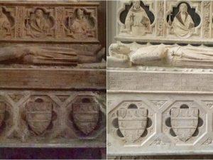 Tornano a splendere i sarcofagi di Santa Chiara, per anni preda di vandali e incuria