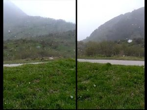 Neve in Campania a fine aprile. E il gelo uccide frutta e verdura