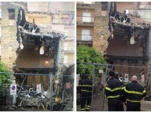 Emergenza maltempo, crolla una palazzina a Casalnuovo di Napoli: nessun ferito