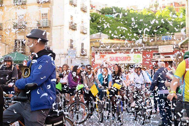 Immagine dall'edizione 2016 del Napoli Bike Festival (Facebook).