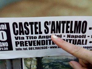 """""""Castel S'Antelmo"""": gaffe sulla locandina del concerto di Niccolò Fabi a Napoli"""