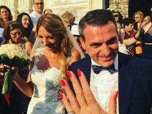Il matrimonio tra Vincenzo Iovino ed Enza Cutolo (Facebook)