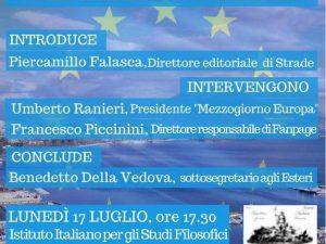 Mezzogiorno ed Europa, a Napoli un dibattito per il ruolo del Sud nell'Unione