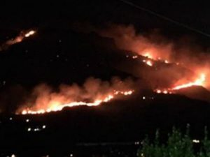 Ischia, oggi grosso incendio sul Monte Epomeo