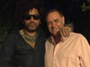 Clemente Mastella e Lenny Kravitz: la foto che non ti aspetti
