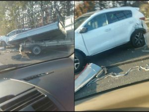 Incidente stradale sull'Asse Mediano verso Giugliano: coinvolti un'auto e un camioncino