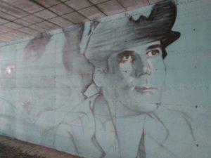 San Giorgio a Cremano, murales decicato a Troisi e Noschese nella stazione della Circum