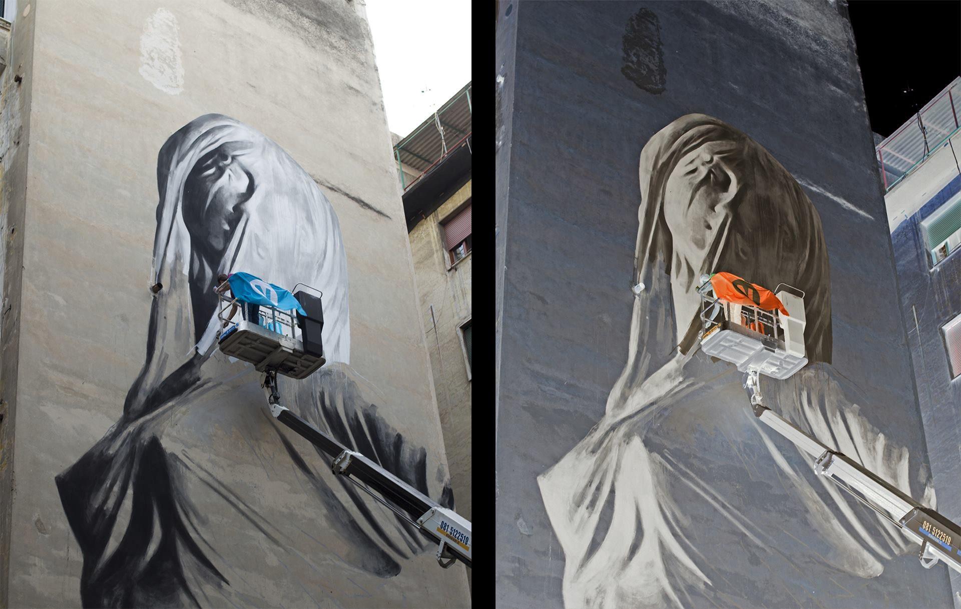 Il nuovo murales di bosoletti ai quartieri spagnoli for Murales per cucina