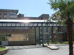 L'ingresso del pronto soccorso dell'ospedale Rummo di Benevento