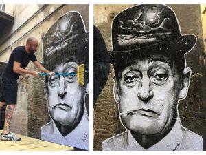 Rione Sanità, sotto casa di Totò la street art di Fabio Borrelli