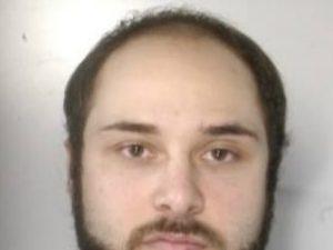 Il boss Mariano Riccio all'atto del suo arresto