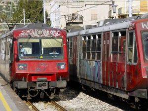 Foto di repertorio – un treno della Circumvesuviana
