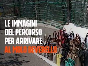 Il molo Beverello al porto di Napoli