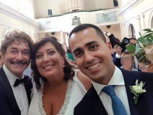 La coppia Ciarambino–Migliorini col testimone, il vicepremier Di Maio