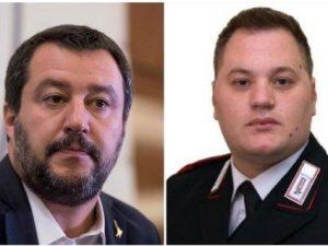 Matteo Salvini (Foto La Presse) ed Emanuele Reali