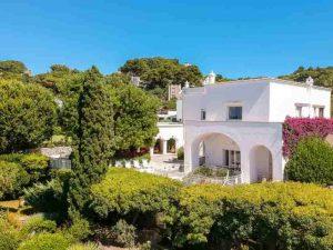La villa in cui visse Totò a Capri
