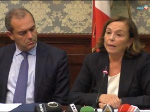 Il ministro dell'Interno Luciana Lamorgese a Napoli il 16 di