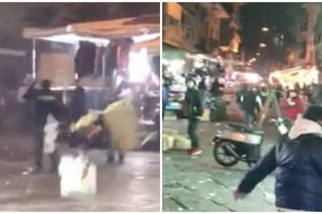 """Napoli, babygang contro la polizia: """"Residenti e commerciant"""