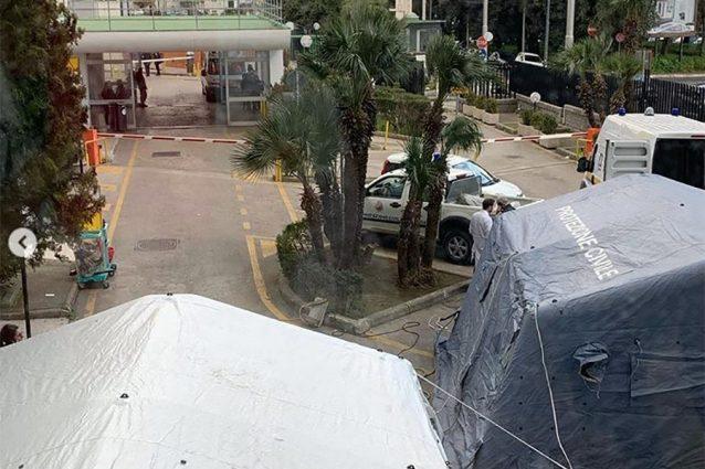 Coronavirus Napoli, al Cardarelli tende per i casi sospetti