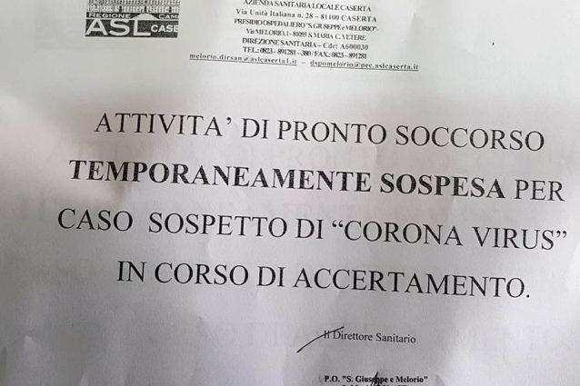 Coronavirus Santa Maria Capua Vetere, chiuso il pronto socco