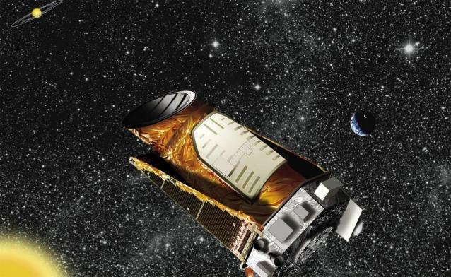 Rappresentazione artistica del telescopio spaziale Kepler