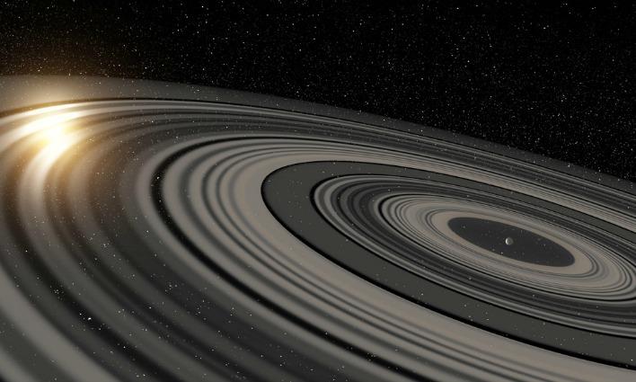 Un gigantesco esopianeta con gli anelli