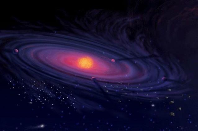 Rappresentazione artistica di un Sistema Solare primordiale