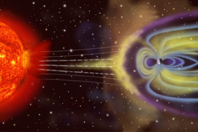 Le particelle solari interagiscono con la magnetosfera