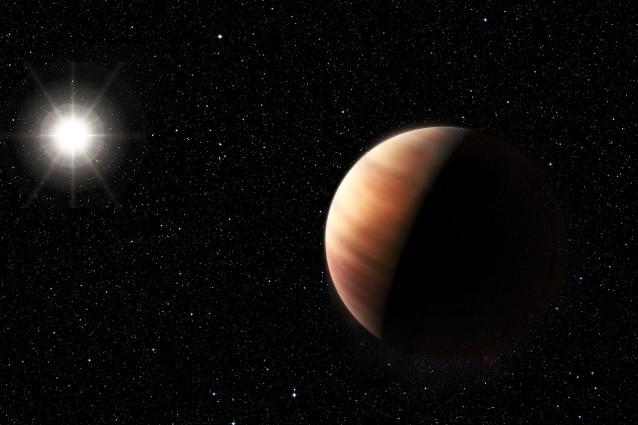Rappresentazione artistica del gemello di Giove e del Sole gemello (Crediti: ESO/L. Benassi)