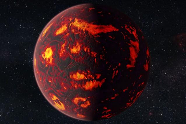 Rappresentazione artistica di 55 Cancri e (credit: NASA/ESA Hubble Space Telescope)