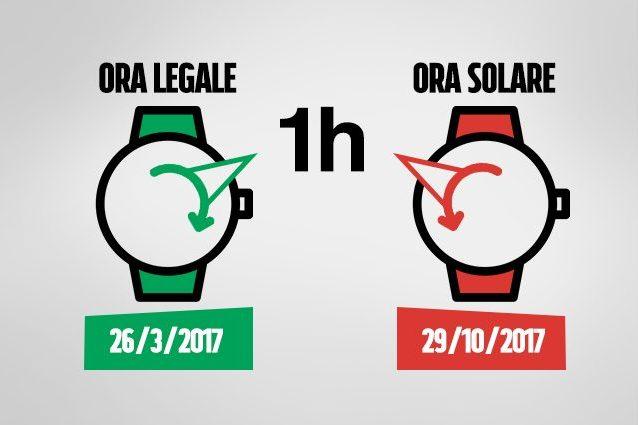 Cambio ora solare e legale date e come spostare le lancette for Quando entra in vigore l ora legale