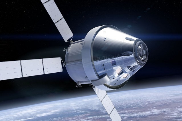 Rappresentazione artistica del veicolo spaziale Orion nello spazio