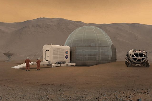 Mars Ice Dome