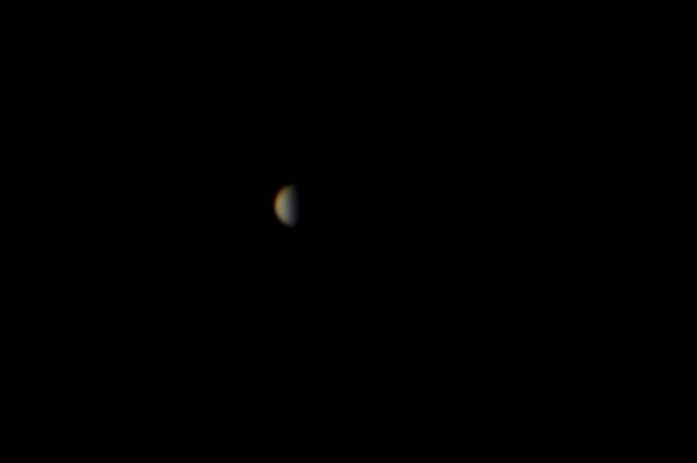 La caratteristica falce del pianeta Venere