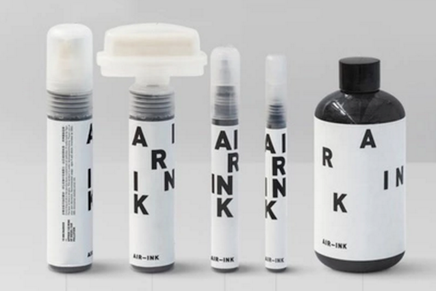 Ogni boccetta contiene 45 minuti di smog: questo inchiostro è fatto con l'inquinamento
