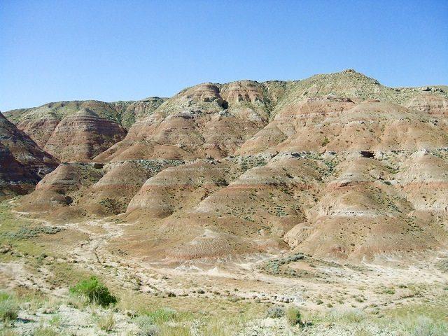 Il sito in Wyoming dove sono stati recuperati i fossili