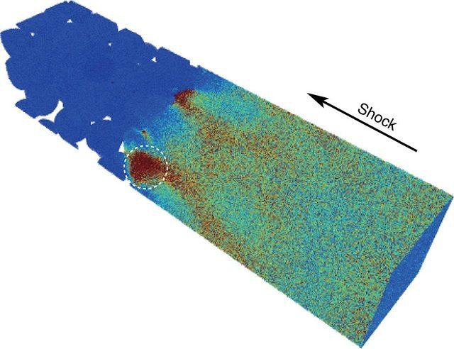 Altro dettaglio che mostra la trasformazione del minerale