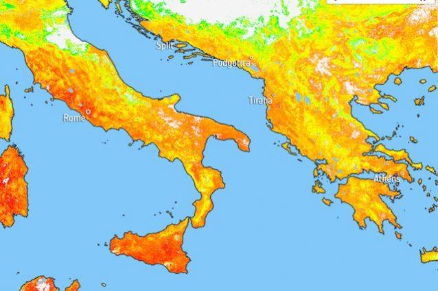 Caldo estivo, Lucifero ha 'infiammato' l'Italia: le immagini dell'Agenzia Spaziale Europea