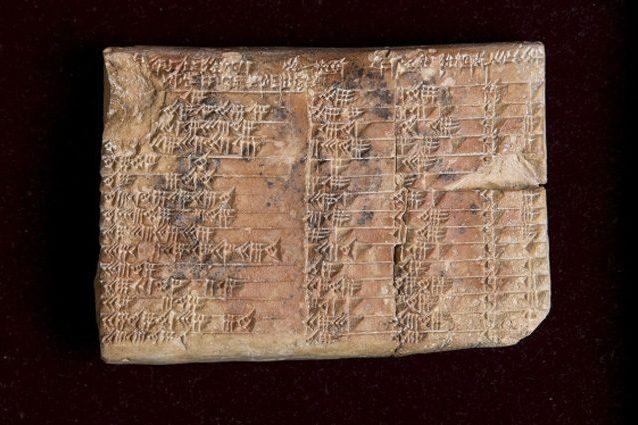 La trigonometria inventata dai babilonesi, non dai Greci: lo svela una tavola di 3.700 anni