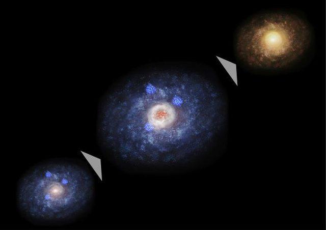 L'evoluzione delle galassie: Credit NAO