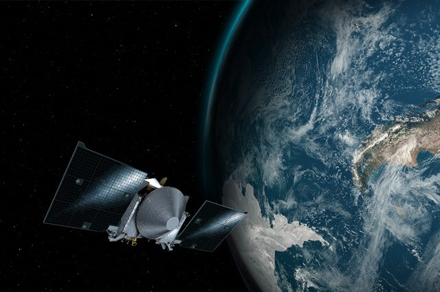 Fionda gravitazionale con la Terra: la sonda Osiris-Rex scagliata verso l'asteroide Bennu