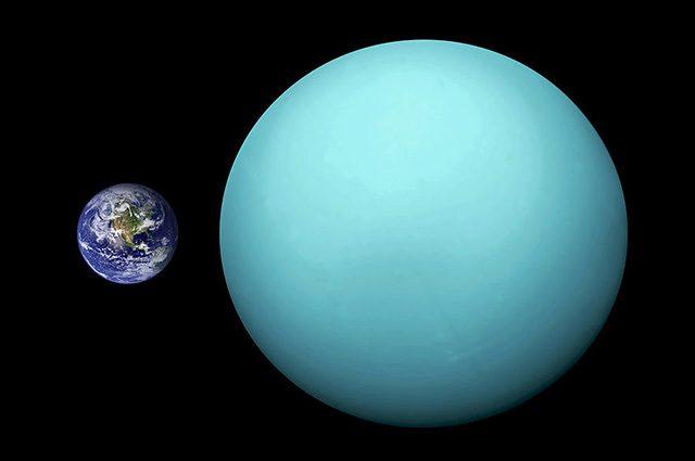 Urano confrontato con la Terra: Credit Orange–Kun
