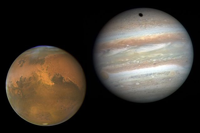 Giove e Marte si 'abbracciano' in cielo: quando e come osservare l'incontro astrale