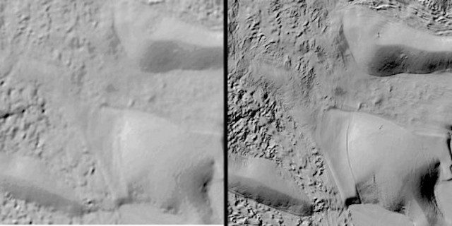 Antartide, come lo vedevamo prima (sinistra) come lo vediamo ora con REMA (destra)