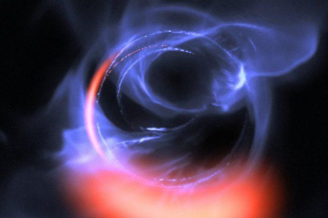 Così un buco nero gigante divora la materia: immagine mozzafiato