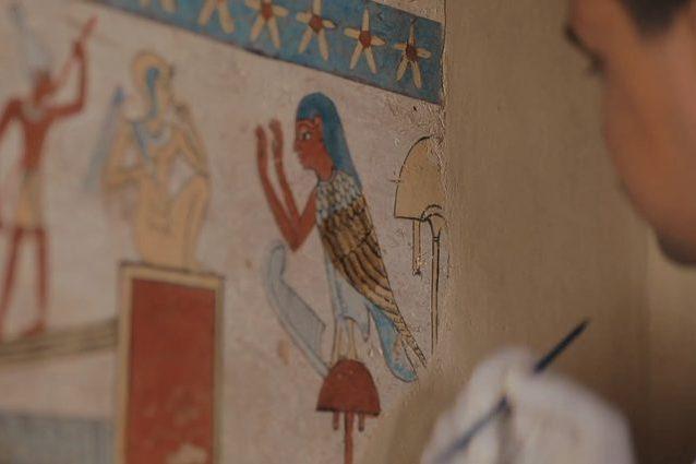 Magnifica tomba egizia con pitture e 50 mummie di animali scoperta a Sohag: le immagini