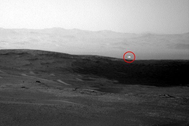Misterioso bagliore fotografato dal rover Curiosity su Marte