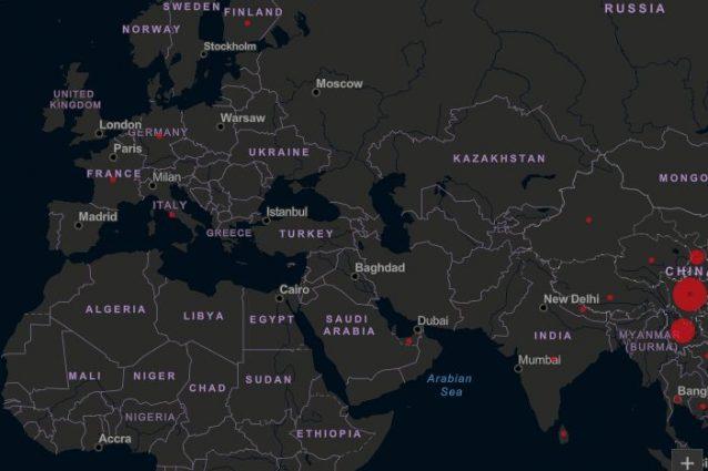 Coronavirus: la mappa del contagio in tempo reale, dalla Cin